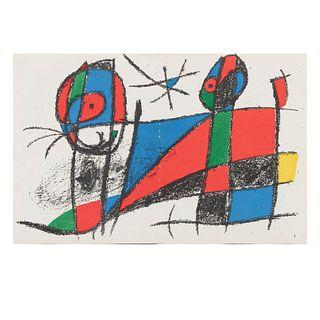 JOAN MIRÓ. Litografía original VI, de la Suite de 12 litografías originales, 1972. Sin firma. Litografía sin número de tiraje.