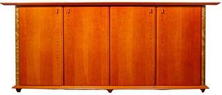 Italian Modernist Style Wood and Veneer Sideboard