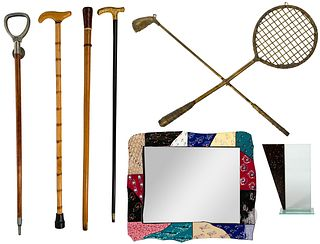 Canes and Decorative Object Assortment