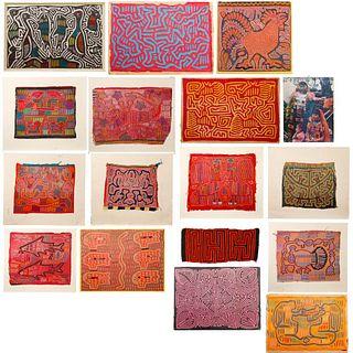 Central American Mola Textile Assortment