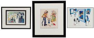 Art-Themed Comic Print Assortment