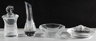 Lalique, Steuben and Baccarat Crystal Assortment