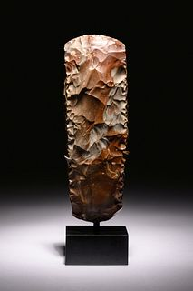 A Scandinavian Neolithic Stone Axe Head Height 12 inches.