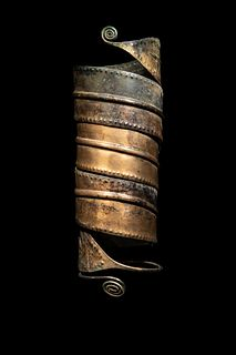 An European Bronze Age Arm Band or Leg Band Height 12 inches.