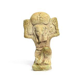 An Egyptian Faience Shu Height 1 1/4 inches.