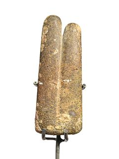 An Egyptian Slate Two-Fingers Amulet Height 3 inches.