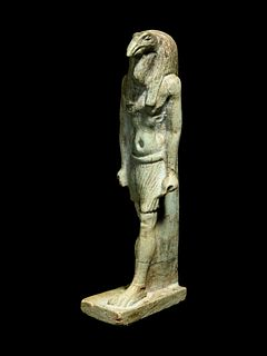 An Egyptian Faience Thoth Height 2 3/4 inches.