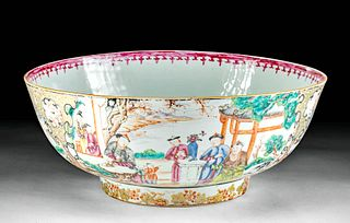 Huge 19th C. Chinese Qing Porcelain Bowl