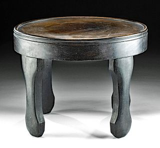 Early 20th C. Chinese Incised Wood Table