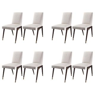 Set of 8 Sling Side Chairs by Thomas Pheasant for Baker