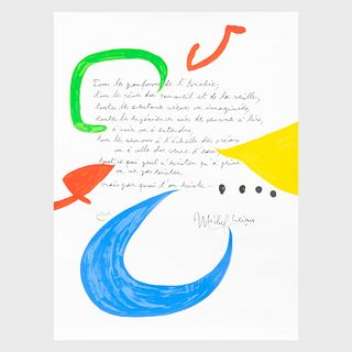 After Joan Miro (1893-1983): Untitled