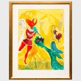 After Marc Chagall (1887-1985): Joseph, from Jerusalem Windows; and The Circus