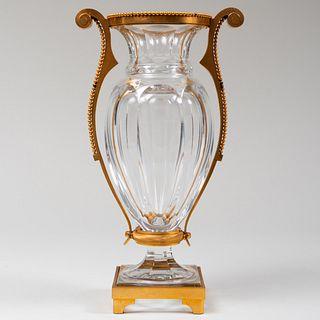 Baccarat Gilt-Metal-Mounted Glass 'Eurydice' Vase