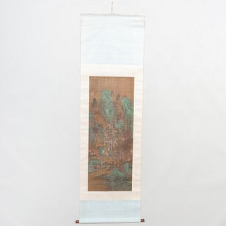 Chinese Scroll of Mountain Landscape