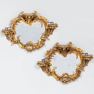 Pair of Giltwood Bracket Mirrors