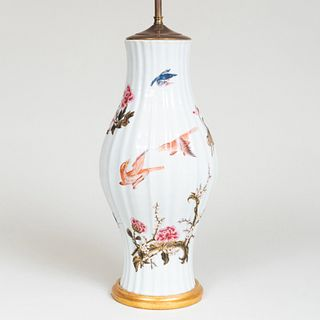 Chinese Export Style Vase Mounted as a Lamp