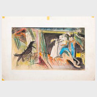Karl Knaths (1891-1971): Composition of Figures