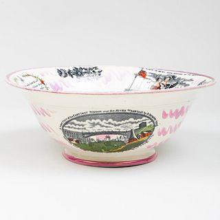 English Lustreware Commemorative 'Crimean War' Bowl