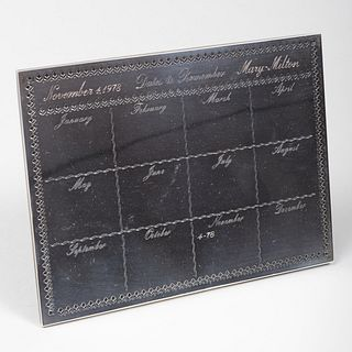 Cartier Silver Wedding Anniversary Desk Calendar
