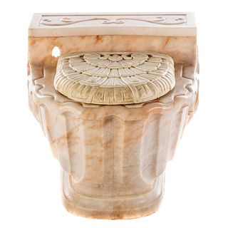 Continental Carved Marble Commode