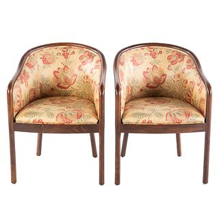 Pair of Upholstered Tub Chairs