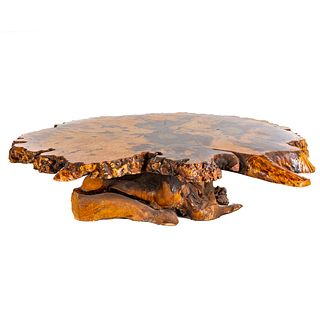 Hollands Redwood Burled Live Edge Coffee Table