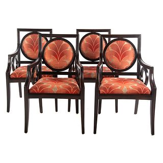 Four Contemporary Arm Chairs, Fairfield Chair Co.