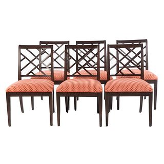 Six Ethan Allen Contemporary Dining Chairs