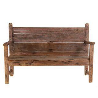 Primitive Painted Wood Bench