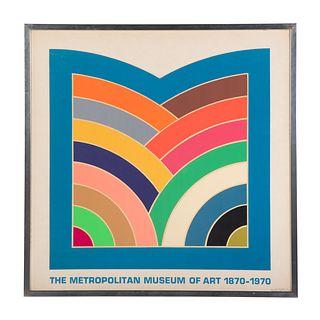 """Frank Stella. """"Met Museum of Art,"""" screenprint"""