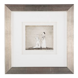 "David Hockney. ""Old Rinkrank..."" etching"