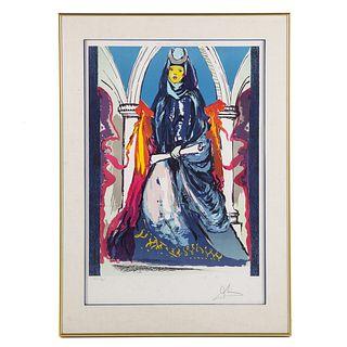 """Salvador Dali. """"Lady Blue-The High Priestess"""""""