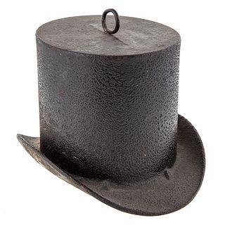 Cast Iron Top Hat Haberdasher's Sign