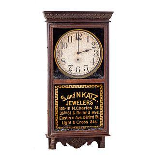 S and N Katz Advertising Wall Clock