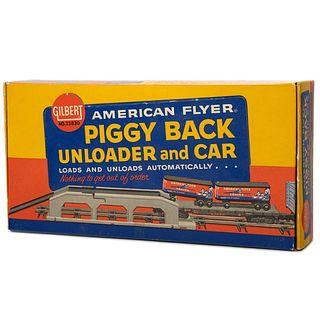 American Flyer 23830 Piggy Back Unloader & Car OB
