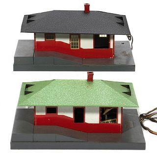 American Flyer 755 Talking Station & 589 Black Roof Station.