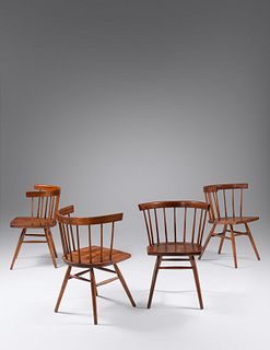 George Nakashima (Japanese/American, 1905-1990) Set of Four Dining Chairs