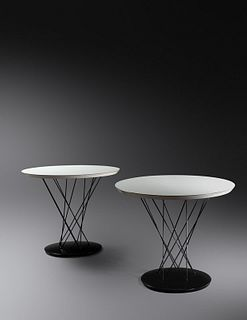 Isamu Noguchi  (American/Japanese, 1904-1988) Pair of Cyclone Side Tables