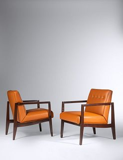 Edward Wormley (American, 1907-1995) Pair of Lounge Chairs
