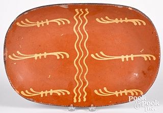 Pennsylvania redware loaf dish, 19th c.