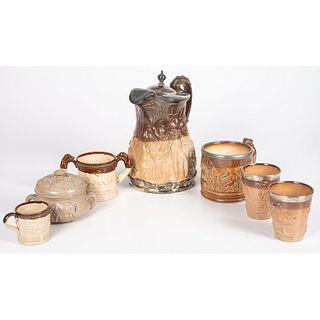 Seven Pieces of English Stoneware