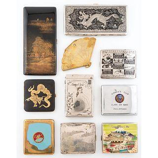 Ten Souvenir Cigarette Cases