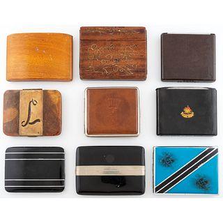 Nine Cigarette Cases