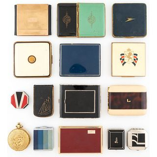 Fifteen Compacts and Cigarette Cases