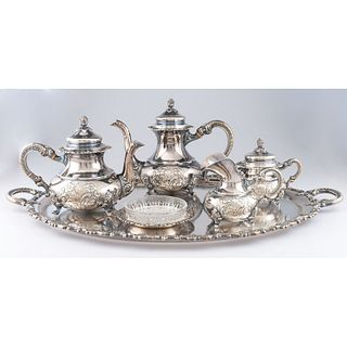 A German Silver Tea Service