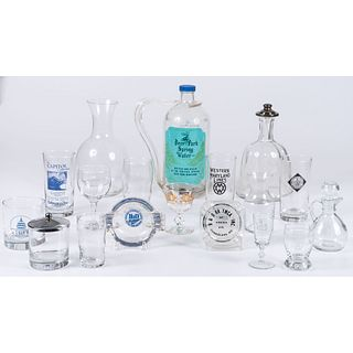 A Collection of B&O Railroad Etched Glassware