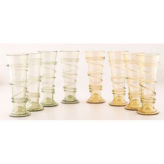 Eight German Style Blown Glass Pasglas