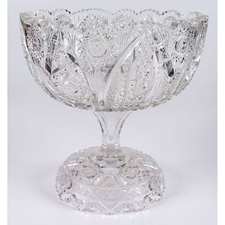 A J. Hoare & Co. Cut Glass Punch Bowl