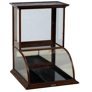 A Quincy Showcase Works Walnut Frame Display Case