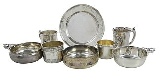 Eight Assorted Sterling Items